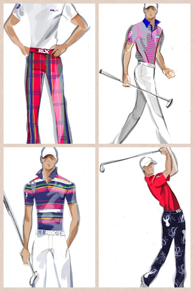 Here's my RLX looks for the @usopengolf! Pretty sweet! Especially the pants on Sunday! @ralphlauren